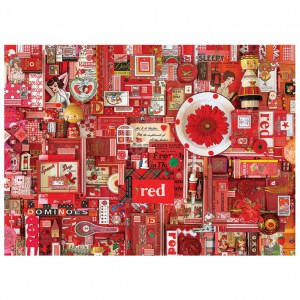 Puzzle Shelley Davies: Red - 1000 pz - Cobble Hill 80146