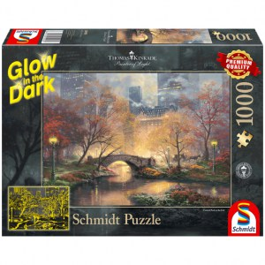 Puzzle Thomas Kinkade: Central Park in autunno - 1000 pz - Schmidt 59496 - Glow in the Dark