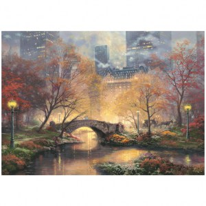Puzzle Thomas Kinkade: Central Park in autunno - 1000 pz - Schmidt 59496