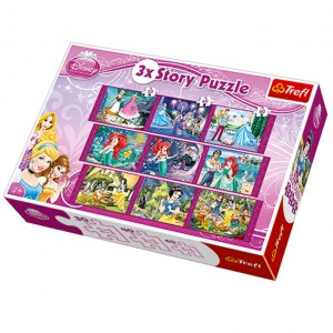 Le Principesse Disney Story Puzzle 3in1