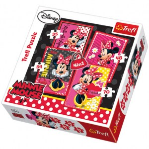Puzzle Minnie 4 in 1 - 207 pz